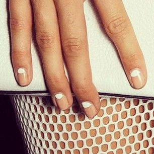Instead of decorating your tips, try a reverse french to get a similar look without growing your nails out. The reverse french can look natural… | 21 Adorable Manicure Ideas For Short Nails