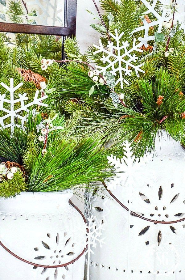 OH, YES YOU CAN USE FAUX CHRISTMAS GREENS Winter Decor Christmas
