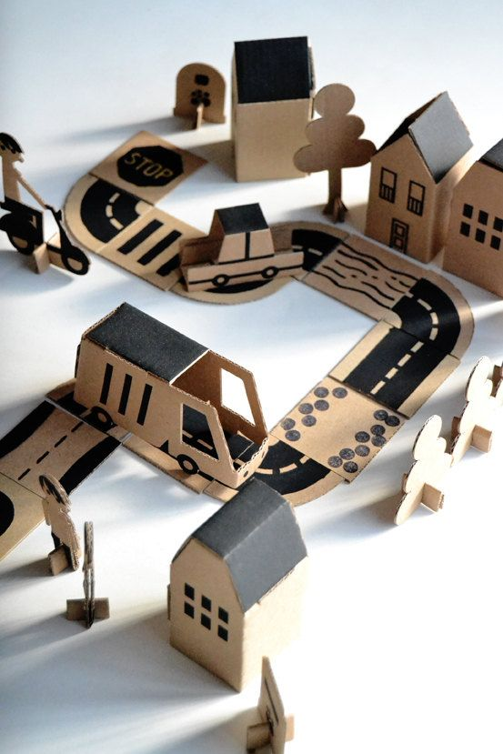#Cardboard city | milimbo via Etsy