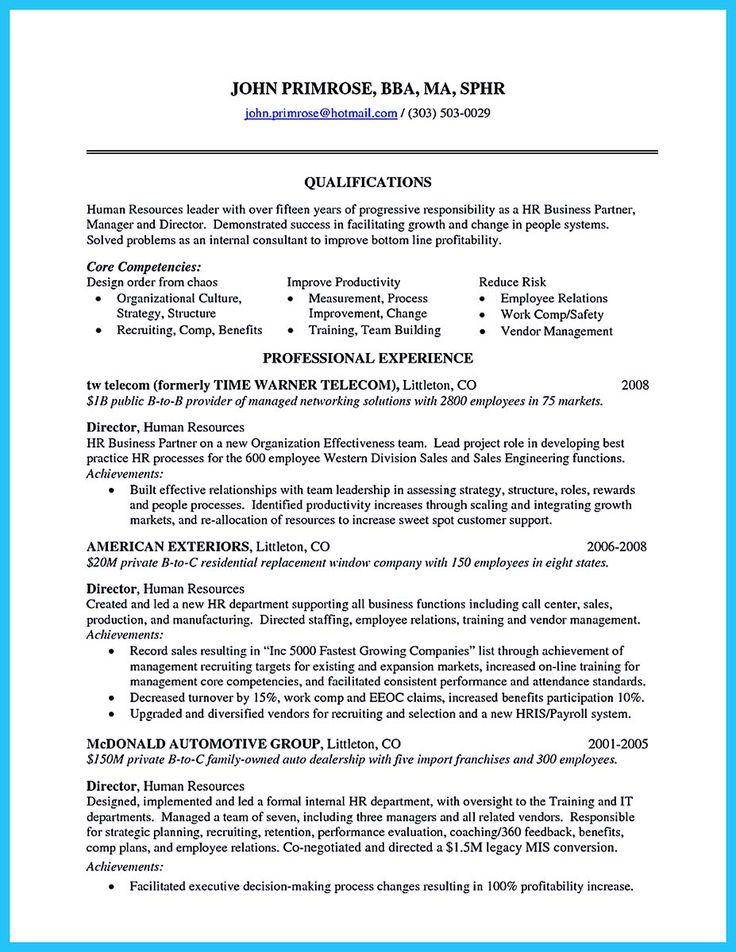 Corporate training resume