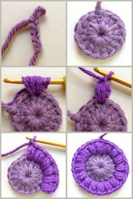 Rajut bunga ungu 1