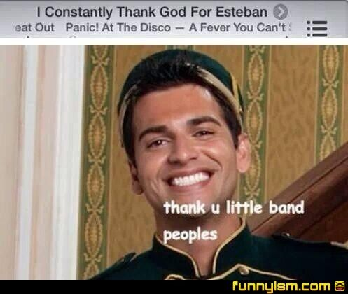 Panic! at the disco and Esteban Julio Ricardo Montoya Dela Rosa Ramirez!
