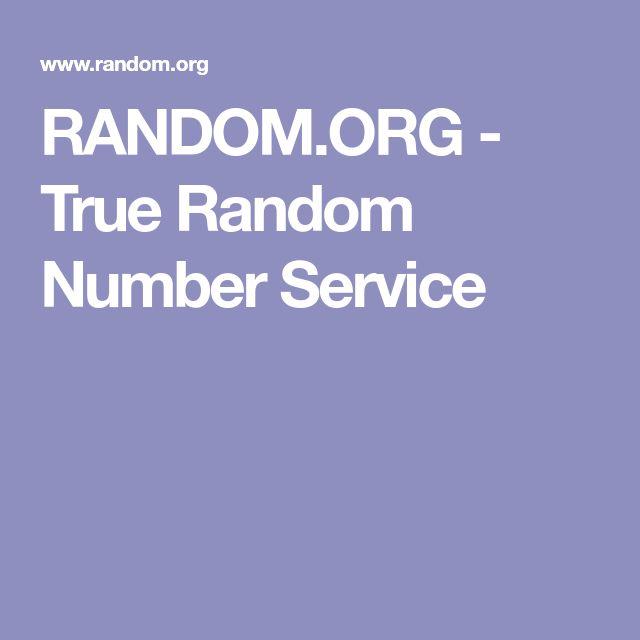 RANDOM.ORG - True Random Number Service