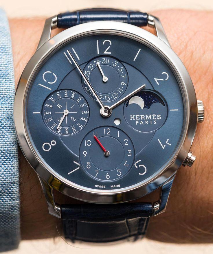 Hermès Slim d'Hermès Perpetual Calendar Watch Hands-On | aBlogtoWatch