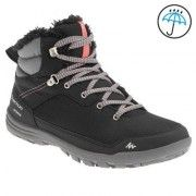 SH100 Women's Warm and Waterproof Snow Hiking Boots - Black