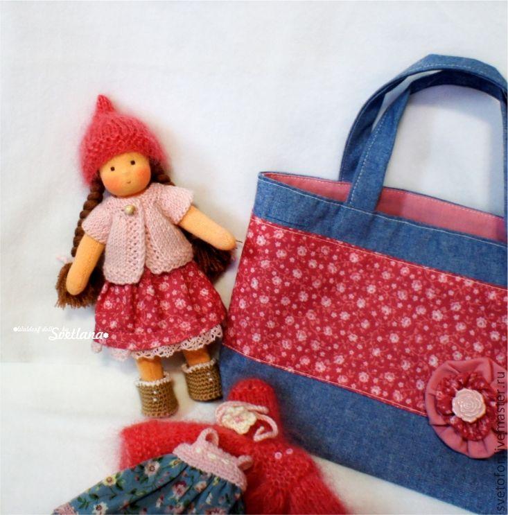 Купить Малышка Розочка шарнирная, 17см - вальдорфская кукла, вальдорфская игрушка, игровая кукла