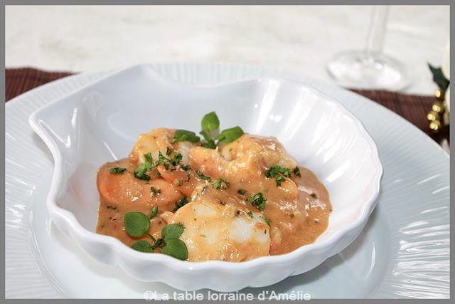 La Table Lorraine D Amelie Saint Jacques Et Crevettes Bio A La