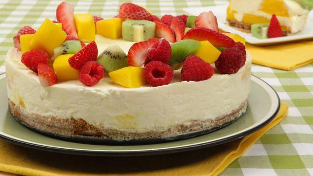 Mango Swirl Ice-Cream Cake