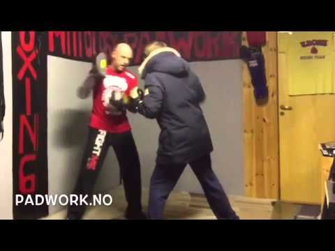 Coach Roger Eriksen Mittology padwork MayWeathe... - YouTube