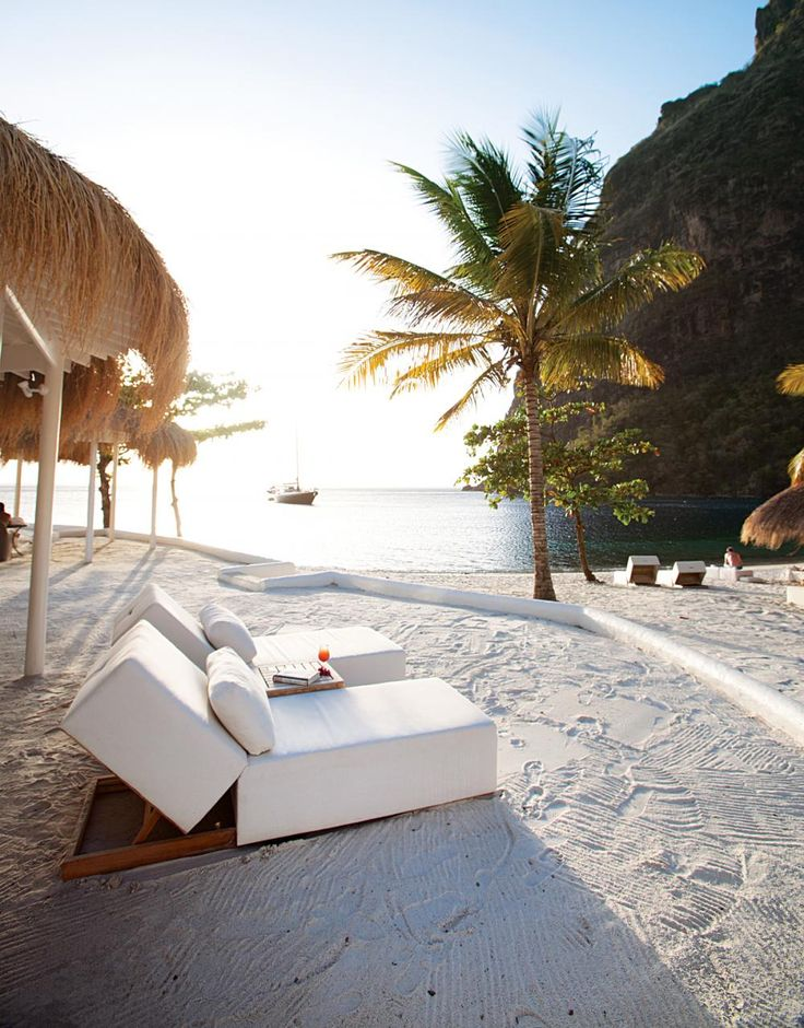 Sugar Beach on St Lucia. St. Lucia is one of the very top honeymoon destinations in the Caribbean with most of the resorts offering wedding packages, some of which are complimentary (restrictions may apply) as well as honeymoon and spa packages. ASPEN CREEK TRAVEL - karen@aspencreektravel.com #Sugar #Beach #St. Lucia