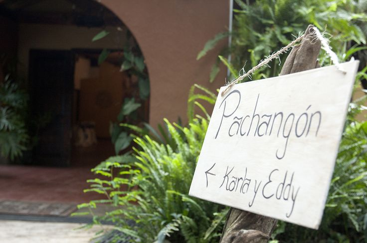 Signs... Pachangon means big party in the Costa Rican slang