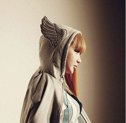 Angle wings decorated at hat couple clothes,his and hers hoodies,coat,cardigans,FREE shipping, FSC0042 $21.91