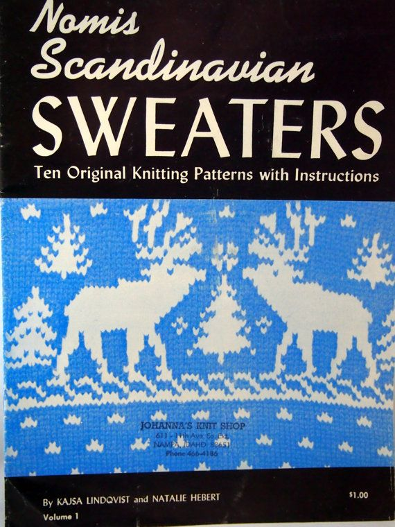 Nomis Scandinavian Sweaters Volume 1 Ten Original Knitting Patterns With Instructions Vintage 1946 by NeedANeedle, $14.75