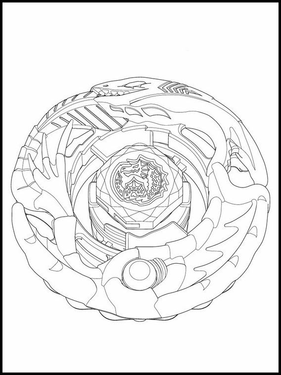 Beyblade Burst Para Pintar 25 Monster Coloring Pages
