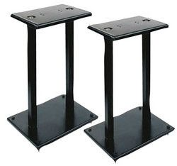 One Pair of Heavy Duty Steel Double Support Bookshelf Speaker Stand