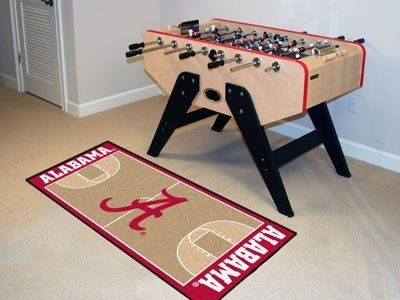 """University of Alabama Basketball Court Runner 30x72 - Support your college with these basketball court-shaped runners by FANMATS. Made in U.S.A. 100% nylon carpet and non-skid recycled vinyl backing. Machine washable. Officially licensed. Chromojet printed in true team colors.FANMATS Series: BASKRUNTeam Series: University of AlabamaProduct Dimensions: 30""""x72""""Shipping Dimensions: 27""""x14""""x0.5"""". Gifts > Licensed Gifts > Ncaa > All Colleges > University Of Alabama. Weight: 5.00"""