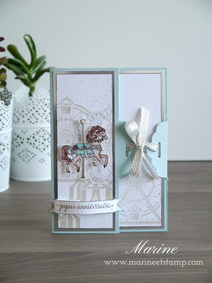 Caroussel Birthday - Stampin'Up!® par Marine