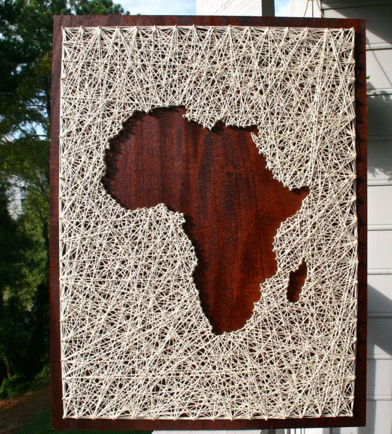 Africa String Art Africa Art Map of Africa by DistantRealms