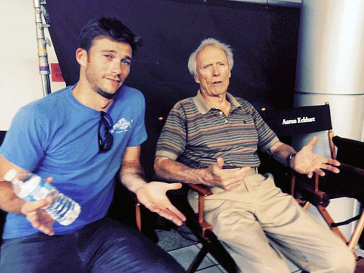 'Like Father Like Son': Clint and Scott Eastwood Hang out on Set of Sully http://www.people.com/article/scott-eastwood-shares-set-selfie-with-dad-clint-eastwood