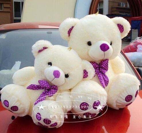 Super!50cm genuine teddy bear purple tie bear plush toys large high quality Valentine's girls gift free shipping