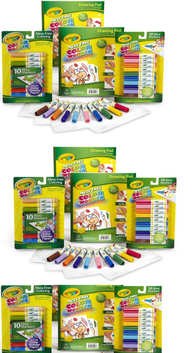 Pens and Markers 116656: Crayola Color Wonder Mess Free Coloring No ...