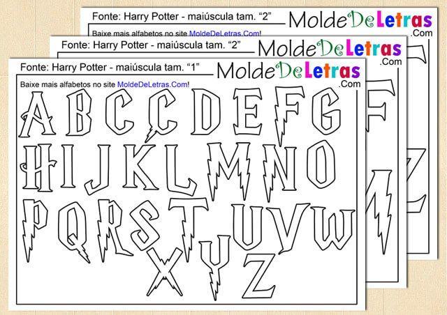 Molde de Letras e Números estilo Harry Potter                                                                                                                                                     Mais                                                                                                                                                                                 Mais