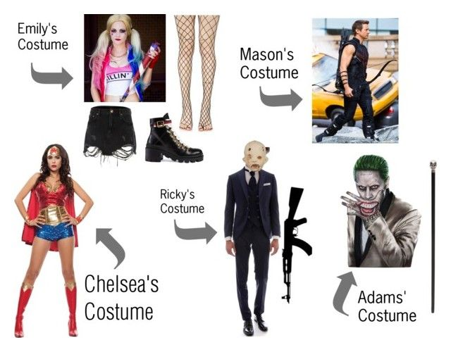 """""""Halloween Costumes! - Chapter 13"""" by arbitrary-closet ❤ liked on Polyvore featuring River Island, Gucci, RIFLE, Leg Avenue and Alexander McQueen"""