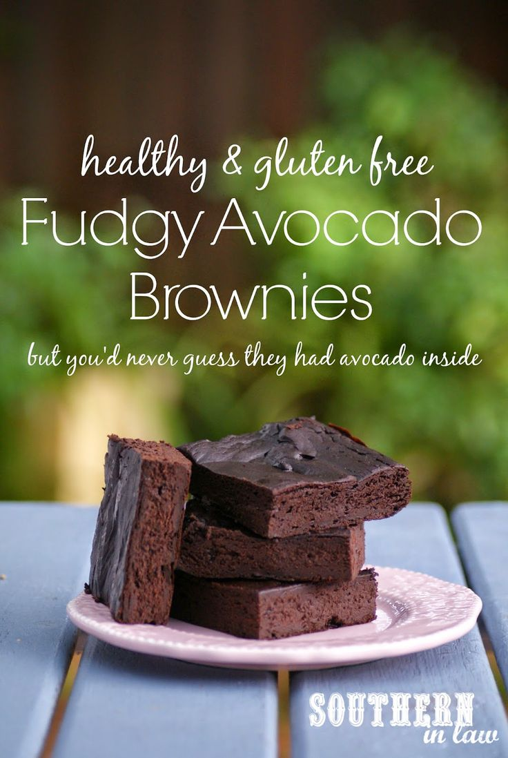 Healthy Avocado Fudge Brownies - gluten free, flourless, low fat, lower sugar, healthy brownie recipe