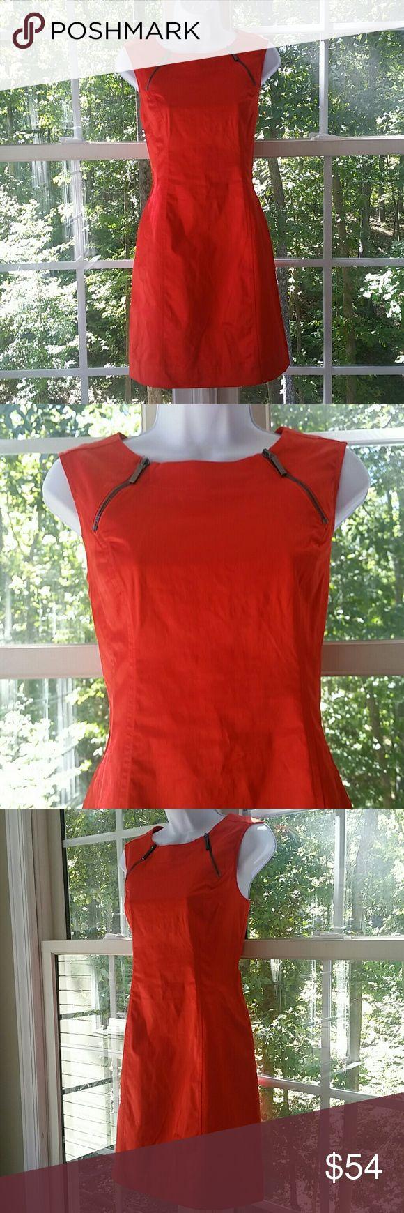 🆕Calvin Klein Bad @ss Zipper Burnt Orange Dress Measurements and colorful description to follow. Thank you for looking! Xoxoxoxo Calvin Klein Dresses