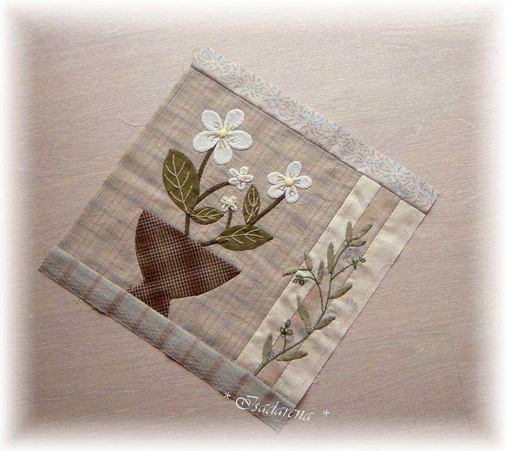 Bloc du Flower Bouquet quilt d'après Yoko Saito San
