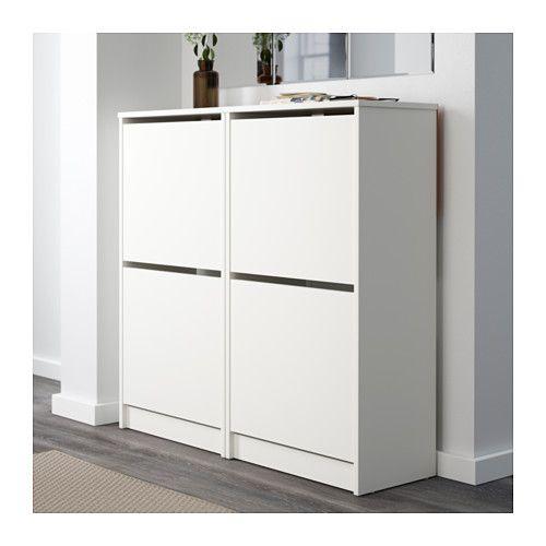 Ikea BISSA Schuhschrank, 2fach, weiß weiß 49x93 cm