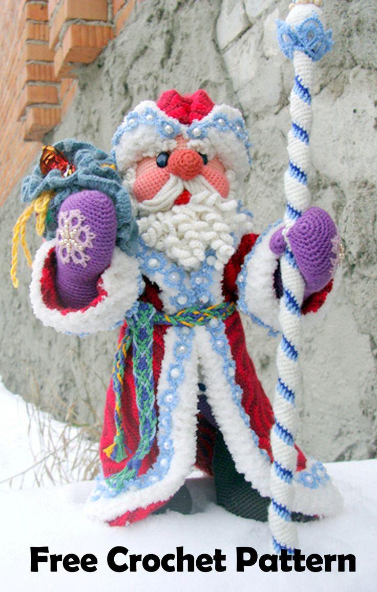 Amigurumi Santa Crochet, free christmas crochet pattern, santa claus crochet, christmas amigurumi, santa doll, crochet christmas decor, santa centerpiece, santa ornament, santa bauble, crochet ornament, crochet bauble, free crochet, free amigurumi, crochet christmas gift, crochet santa gift, handmade christmas present, handmade christmas decor, handmade santa