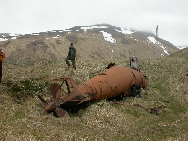 Japanese Type-A midget submarine on Kiska, Alaska