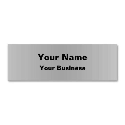 Minimalist Gray Metallic Business Cards