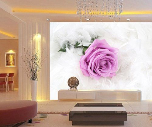 Pink Rose Wall Mural, 10-Feet 1-Inch By 6-Feet 9-Inch - Amazon.com, #Onlymurals