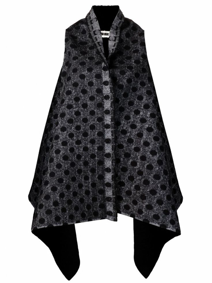 UMA WANG - Sleeveless Open Front Jacket - UW13FW240 BLACK - H. Lorenzo