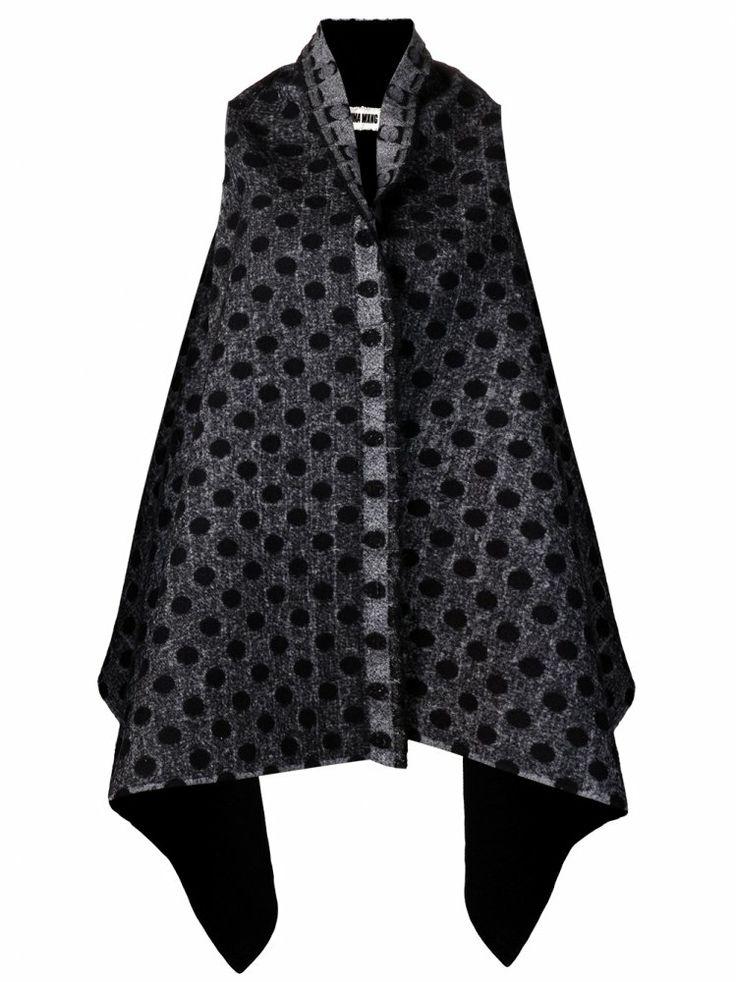 UMA WANG - Sleeveless Open Front Jacket - UW13FW240 BLACK - H. Lorenzo