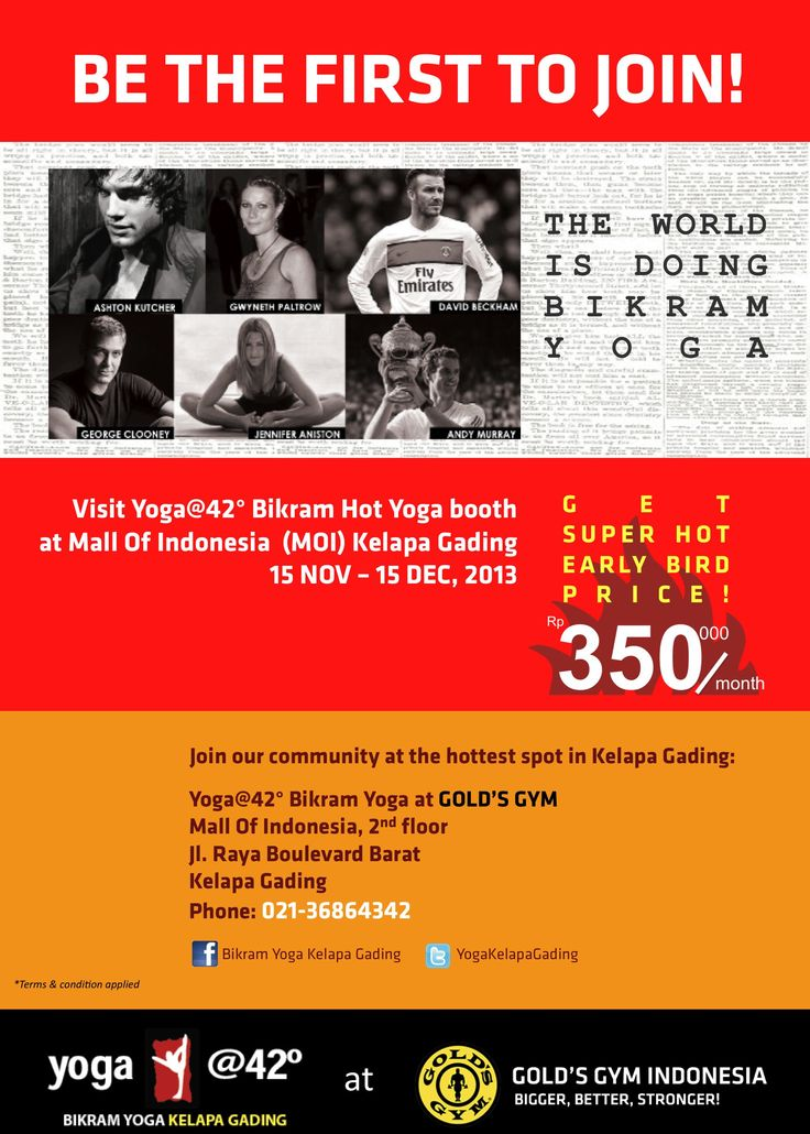 Be the first to join  Info booth and Preopening sales.....Mall of Indonesia, Kelapa Gading....yOg@42 bikram yoga jakarta's booth
