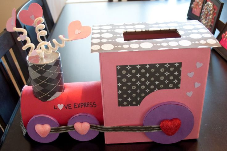 Valentines day box idea for kids. Cute train. #valentinesday #kids