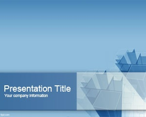 Columns PowerPoint Template for buildings and businesses