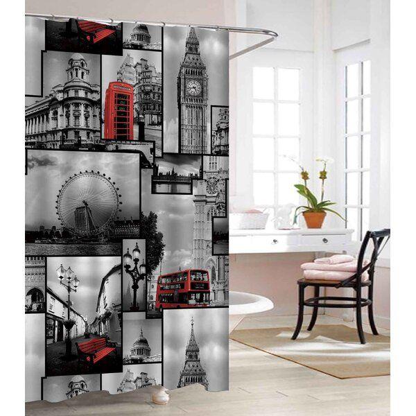 London Land Heavy Weight Waterproof Vinyl Single Shower Curtain In