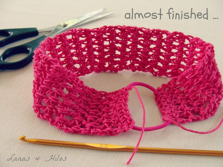 Crochet Elastic Hair Band : Cool way to make a stretchy headband.????how I make my girls ...