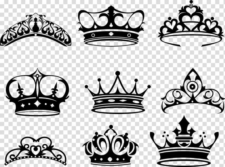 Crown Of Queen Elizabeth The Queen Mother Tattoo King Hand Painted Black Crown Transparent Background Png Clipart Free Clip Art Crown Drawing Clip Art