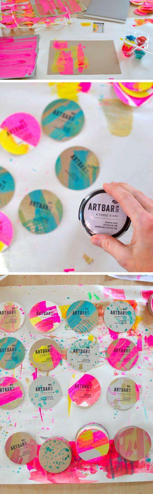 Custom round DIY business cards by Artbar