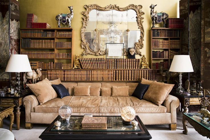 """Chanel's rue Cambon living room from """"Fashion at Home"""" article in the holiday issue of domino magazine. Je l'aime beaucoup."""