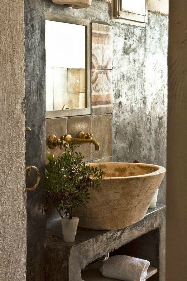 """A rustic Italian farmhouse … could do some serious relaxing here. """"Masseria Potenti"""" is situated in a large estate with olive trees and vineyards, not far from the Ionian Sea in countryside of Manduria, Italy.Dating back to the 16th century, Masseria Potenti has been renovated to be a comfortably stylish home away from home ~ …"""