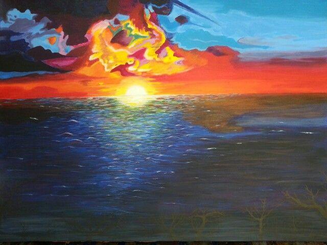 Acryl Sonnenuntergang