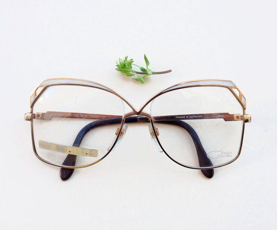 Cazal 1980s eyeglasses / 80s NOS gold and enamel by Skomoroki