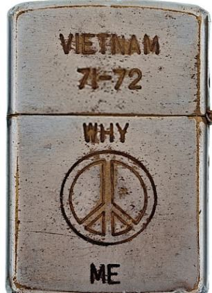 Zippo lighters reveal the hopes of and fears of a life under fire...
