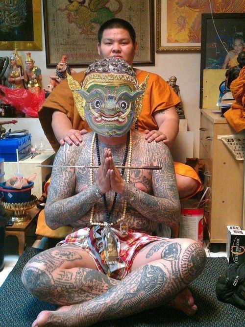 Whole body   Khmer Tattoos   Thai tattoo, Khmer tattoo ...